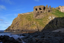Not a brilliant image but wanted to show you this amazing ruined Castle - what you see here are 14th Century remains from Castle originally built in 1246 but trashed by those nasty Viking invaders. A truly amazing setting.