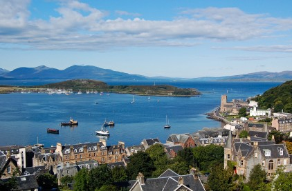 A spectacularly clear day - with Lismore Lighthouse and Duart Castle clearly visible