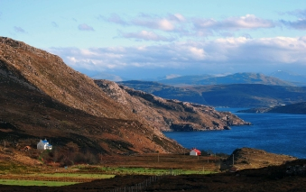 I loved the vibrant colours of the houses against the wilderness of Coigach