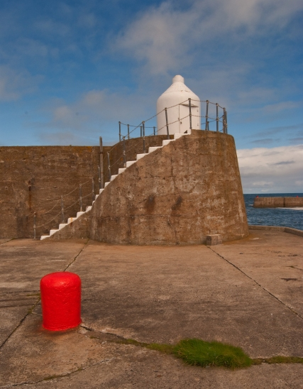 a trilogy of Colour in the harbor at Findochty, Moray