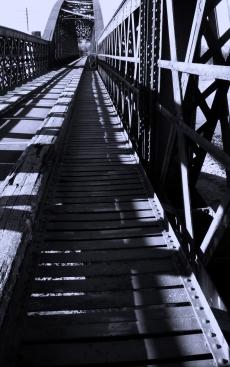 Garmouth Old Rail Bridge crossing the River Spey