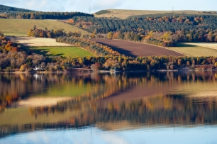 I know you will be used to seeing reflections in my work - on this occasion however I have used farmland in varied state of being farmed. I like the collection of soft browns and autumn colours all being amplified by the depth of the reflection - but natural enough to display a range of surface textures - enjoy