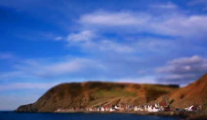 I seen an image of one of the Moray coastal fishing villages which I knew was tweaked but I didnt understand how so I went along took my own shot and have atempted the same effect - I spent alot of time trial and error but think I have got the hang of it. Anyway you wont see too many of these - but I do feel this particular location works well for the tiltshift process. Tiltshift for the uninformed is gausian blur applied across all but aband of the image which you want to remain normal plus a little boost the contrast and saturation offering a dreamy toy village effect.