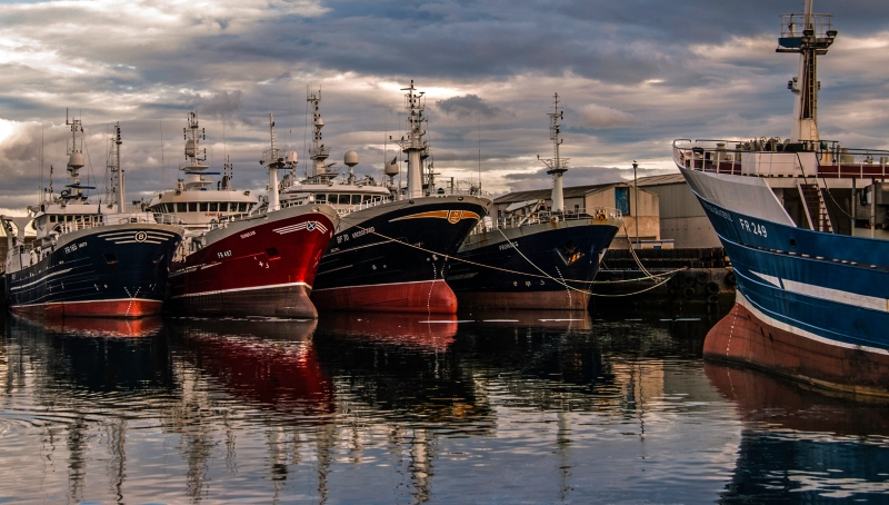 The last of Scotland's fishing fleet (we are an island nation) rest up - constrained by the terms of the European Union Fishery Agreement.  I do hope all signatory nations are as well behaved. It is a hugely contentious subject - but surely a policy which will preserve our fishing stocks for the future. The fishing industry must reduce waste and throwing of overcatch back to the sea is madness. Anyway i will jump off my environmental soapbox and get back back to the art. I have tweaked this in Lightroom and Nik Software to bring out the detail amongst the boats in what was a twilight image. I hope the tweaking is not too much - I don't personally enjoy overcooked images - enjoy hopefully.