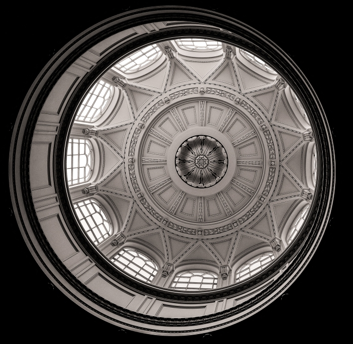 This a blast from the past - originally taken in 2010 at the time I was very pleased with the results and published it to a successful 18 likes. Today I tracked down the master file and decided to re-edit - I have adjusted the alignment by rotating the image removing several dust scratches and applying a yellow filter which offers some strong definition on the domes detail. In summary I felt this was well worth a second viewing - enjoy