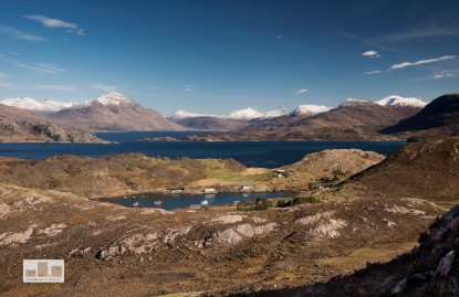 This is the second from my last trip out to Torridon - although rather than focusing on Beinn Alligin the view looks towards Torridon across the Loch Beag then Loch Sheildaig and finally just before the mountain range you see Upper Loch Torridon, it is quiet rare to see this view on such a clear day - enjoy