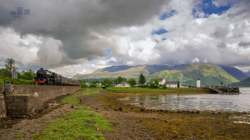 This is the famous Jacobite Steam Train on the Fort William to Mallaig Line (also known to some as the Hogwart's Express from the Harry Potter Movies). Although the weather wasn't the best I was set up to include the mini Lighthouse on the right and Ben Nevis in the background - definately a good recce shot for a better day (works quite well in mono but we shall keep that for another day) enjoy.