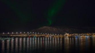 Tromso Artic Cathedral Lightshow