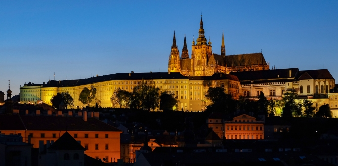 Prague Castle under Spotlight