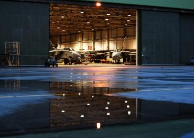 Behind the Hangar Doors