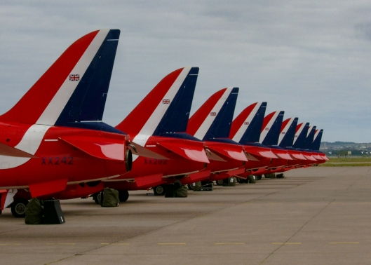 Red Arrows at RAF Leuchars Airshow - I was airfield manager